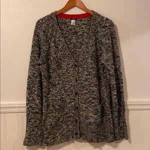 J Crew Marled Cardigan Sweater XL New